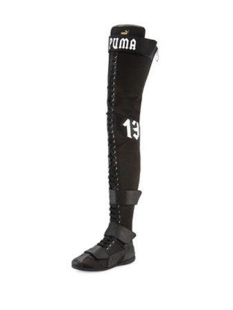 Black knee high puma boots