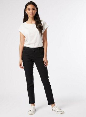 DP Petite Black Slim Ellis Denim Jeans