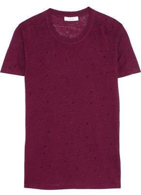Clay Distressed Slub Linen-jersey T-shirt