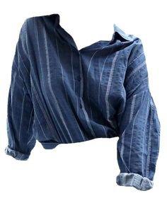 Blue & White Button Shirt