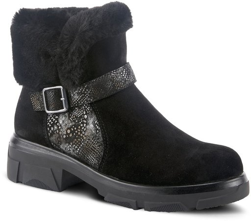 Tread Faux Fur Bootie