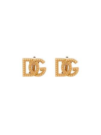Pendientes DG con apliques Dolce & Gabbana por 395€ - Compra online AW20 - Devolución gratuita y pago seguro