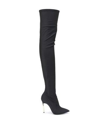 Casadei Neoprene Stiletto Boots