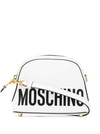Moschino logo-print Leather Mini Bag - Farfetch