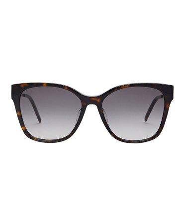 Saint Laurent | Havana Tortoiseshell Sunglasses | INTERMIX®