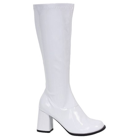 White Go-Go Boots | Party City