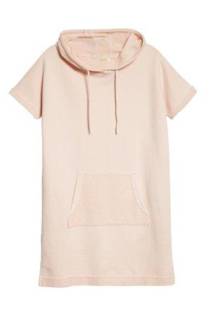 Nicole Miller Mixed Media Hooded Sweatshirt Dress | Nordstrom