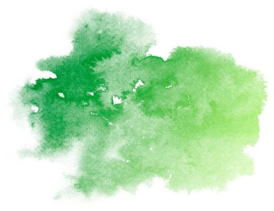 Green Watercolor Blot