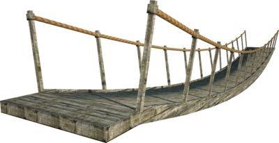 rope bridge wood png grey filler brown
