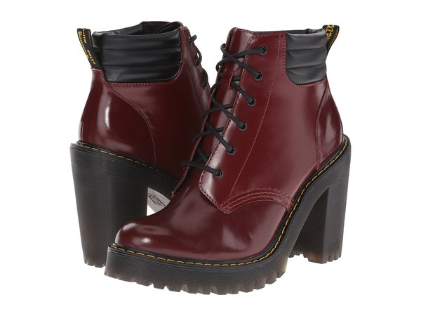 Maroon Dr Martens heels