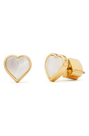 spade flower mother-of-pearl heart stud earrings KATE SPADE NEW YORK | Nordstrom