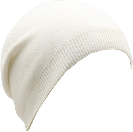 Wheebo Beanie Hat Cashmere Stretch Skull Ski Cap for Women Men -Winter Knit Hat Solid Color Unisex Style (White) at Amazon Women's Clothing store