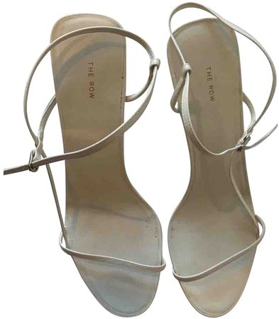 Bare White Leather Sandals