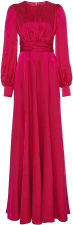 Andrew Gn Gathered Silk Gown