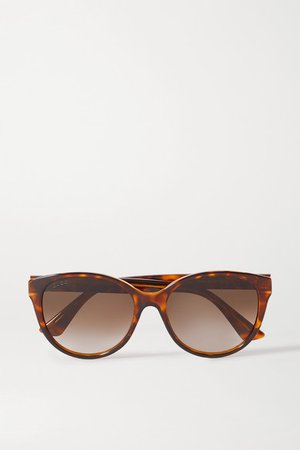 Gucci | Round-frame tortoiseshell acetate sunglasses | NET-A-PORTER.COM