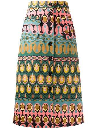 La Doublej Peggy abstract-print Skirt - Farfetch