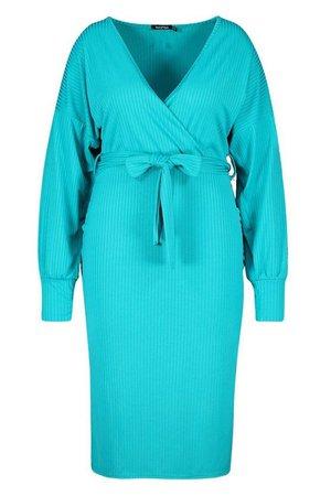 Plus Jumbo Rib Midi Dress | boohoo