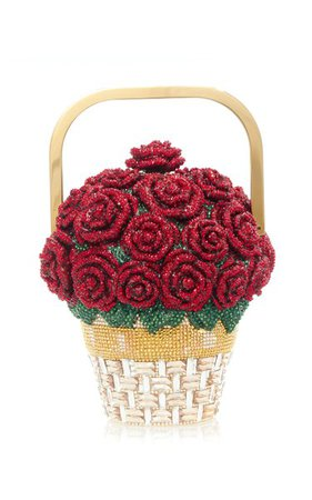 Basket Of Roses Top Handle Clutch By Judith Leiber Couture | Moda Operandi