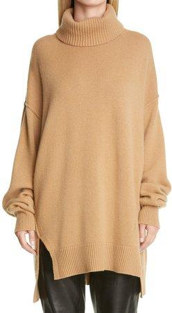Oversize Cashmere Turtleneck Sweater