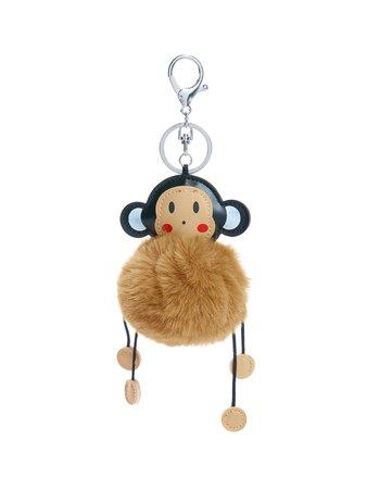 Monkey Keychain With Pom Pom