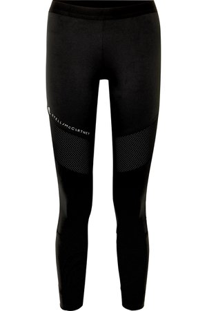 adidas by Stella McCartney   + Parley for the Oceans Performance Essentials mesh-paneled stretch leggings   NET-A-PORTER.COM