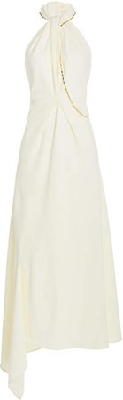 Victoria Beckham Halter Neck Midi Dress