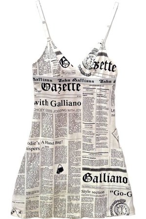 John Galliano beach wear newspaper print mini knit dress, also great for daywear or sleepwear at Moods of Florence, Portland Oregon. | John galliano, Newspaper printing, Fashion