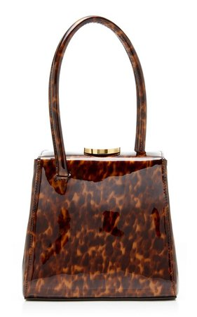 Mademoiselle Printed Patent Leather Top Handle Bag by Little Liffner | Moda Operandi
