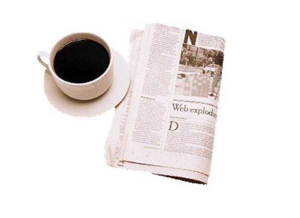 coffee & newspaper.