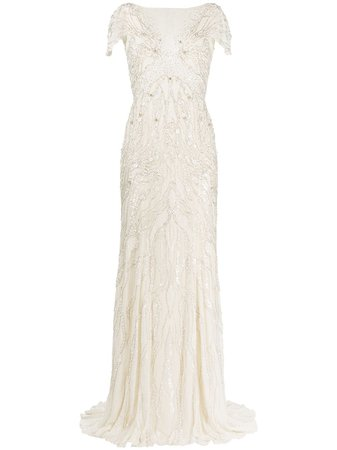 Jenny Packham sequin-embellished Silk Gown - Farfetch