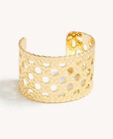 Basketweave Cuff Bracelet | Ann Taylor