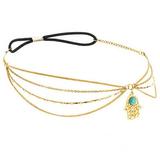 Hamsa Triple Chain Crown