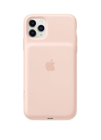 iPhone 11 Pro Max Smart Battery Case - Pink Sand + iPhone 11 Pro Max (Silver)
