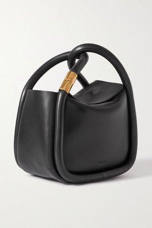Black Wonton 20 leather tote   BOYY   NET-A-PORTER