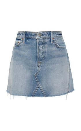 Eva Denim Mini Skirt by GRLFRND Denim | Moda Operandi