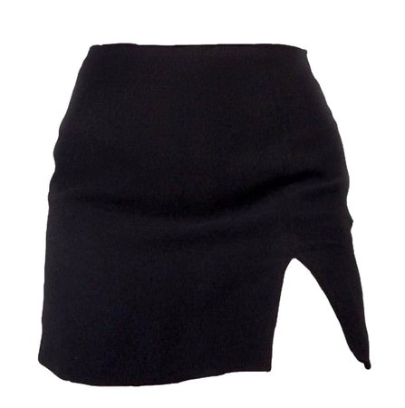 black mini skirt w/ slit