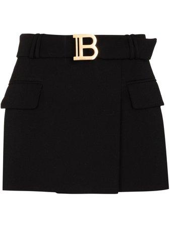Balmain Belted Mini Skirt - Farfetch