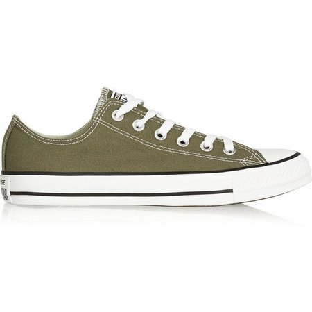 Army Green Low Top Converse