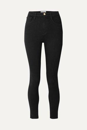 Black Ali high-rise skinny jeans | FRAME | NET-A-PORTER