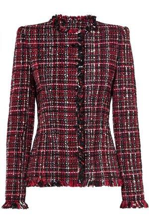 Alexander McQueen | Frayed tweed blazer | NET-A-PORTER.COM