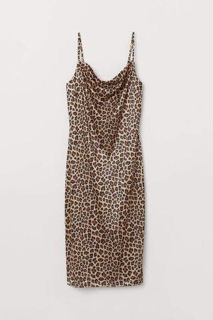 Slip-style Dress - Beige