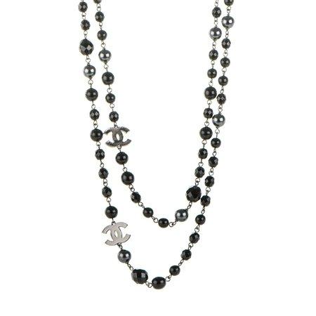 long black necklace - Google Search
