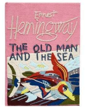 Olympia Le Tan The Old Man And The Sea Embroidered Book Clutch - Womens - Pink Multi