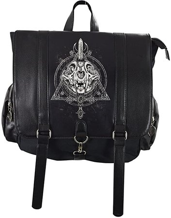 Amazon.com | Restyle Occult Black Backpack, Cat skull, Moon, Gothic, square Briefcase Backpack | Backpacks