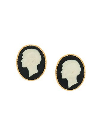 Chanel Pre-Owned huge cameo portrait earrings $2,190 - Buy VINTAGE Online - Fast Global Delivery, Price