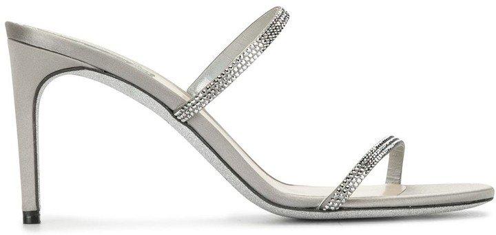 Rhinestone-Embellished Sandals