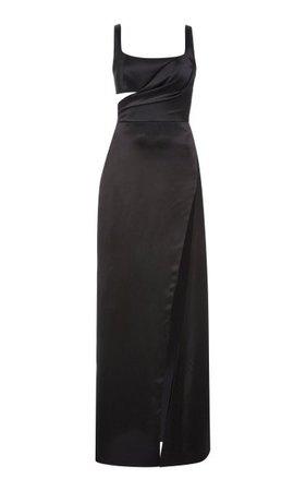 Gathered Cutout Silk-Satin Gown By Brandon Maxwell | Moda Operandi
