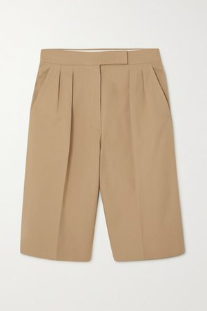 Ottuso Stretch-cotton Shorts - Camel