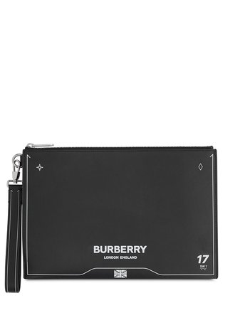 Burberry Symbol-Printed Clutch 8026721 Black | Farfetch
