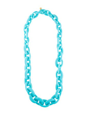 Tory Burch Resin Chain Necklace - Necklaces - WTO191179 | The RealReal